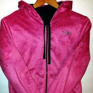 The North Face Hooded Jacket Rev Pink/Gray Sz L
